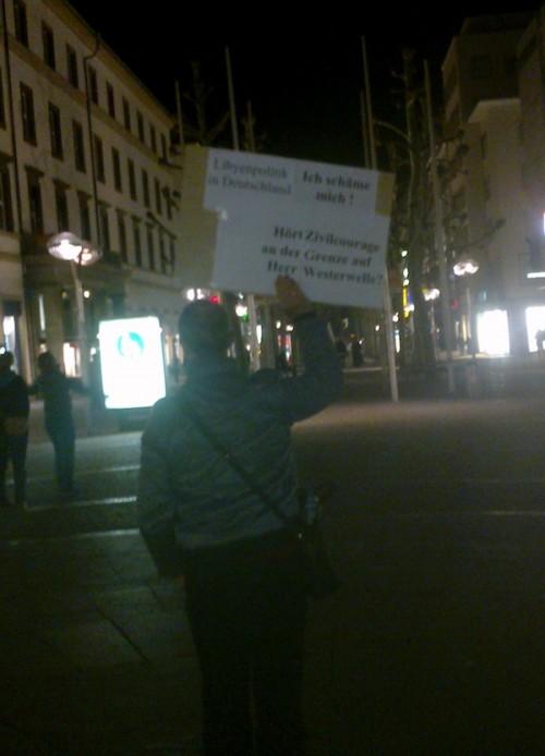 Einsamer Protest