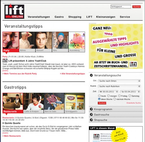 Lift Online Relaunch