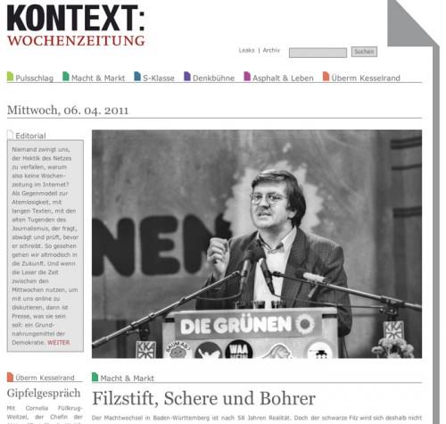 Kontext: Neue Wochenzeitung im Internet