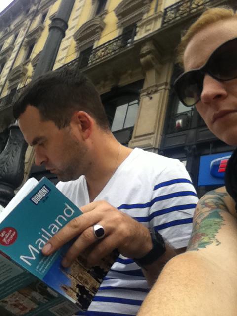 In Mailand… gibt's Sachen