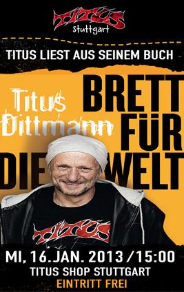 Heute Mittag: Titus liest im Titus