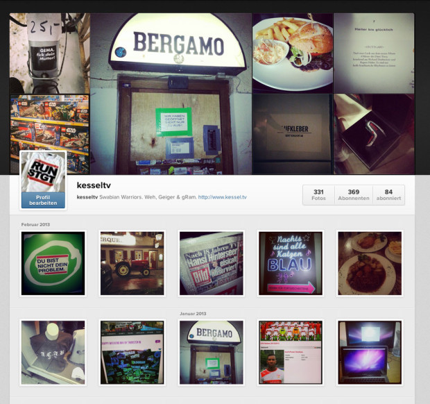 Instagram Desktop Feed