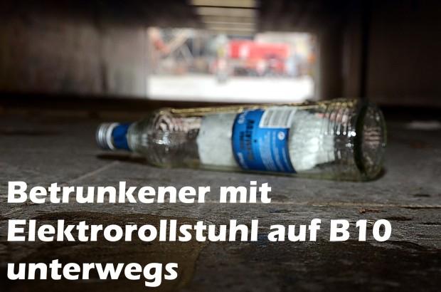 Betrunkener mit Elektrorollstuhl auf B10 unterwegs