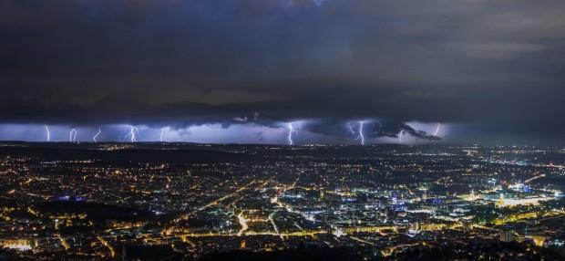 Gewitter über Stuttgart