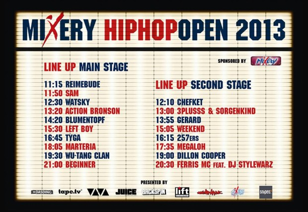 HipHop Open Timetable