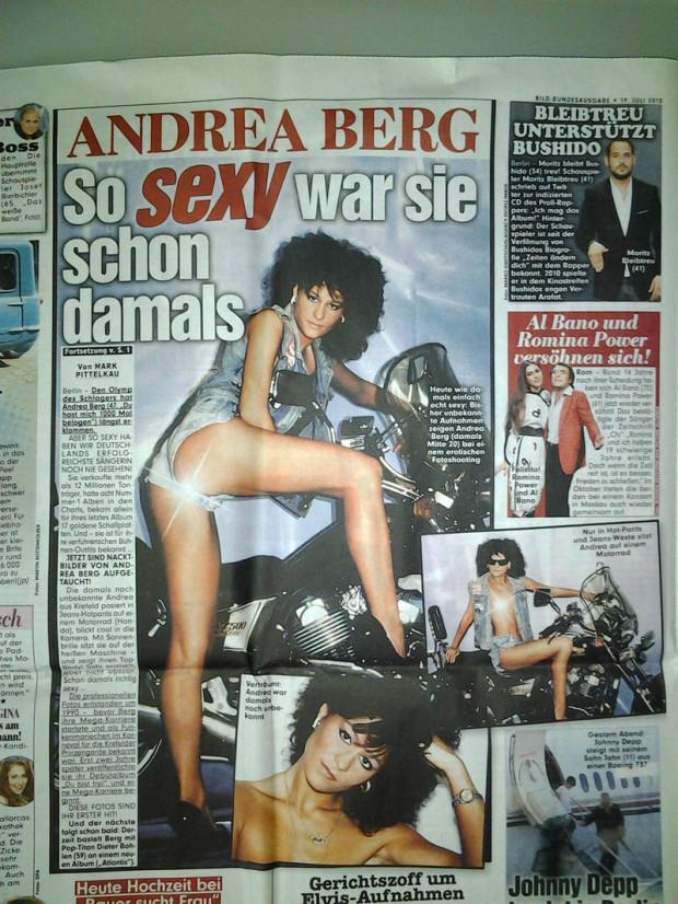 Andrea Berg nackt / oben ohne: Sexy Nacktfotos in Bild