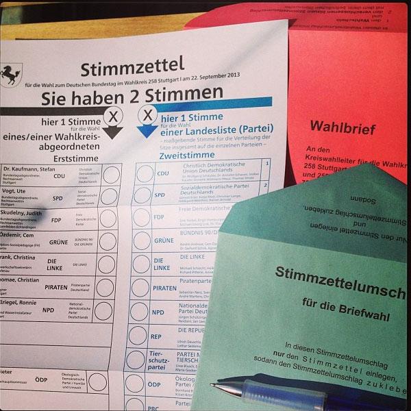 Bundestagswahl: Jeder hat zwei Stimmen