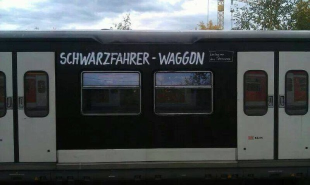 Schwarzfahrer-Waggon
