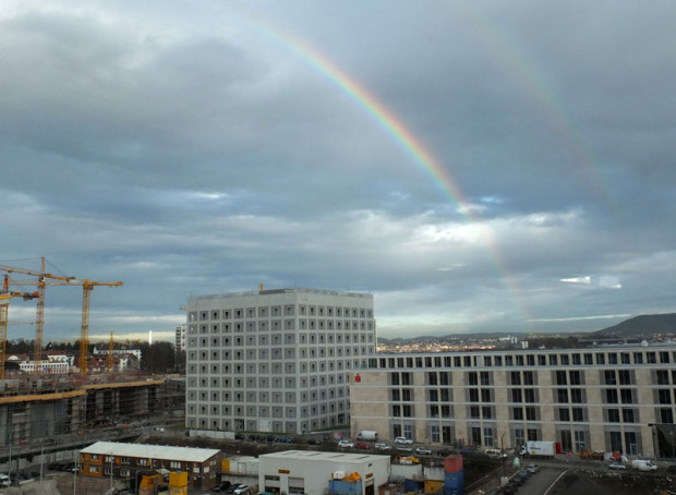 Regenbogen über Stuttgart