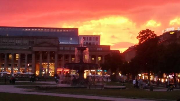 #roterhimmel #sunset #nofilter #stuttgart #skyporn