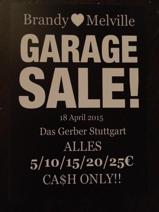 Garage Sale im Einkaufszentrum