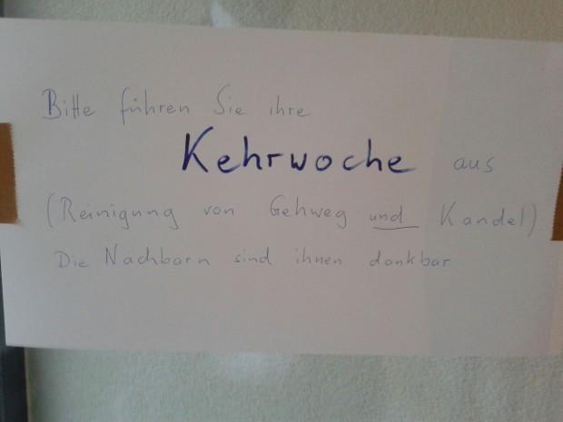 Notes of Stuttgart: Don´t mention the Kandel