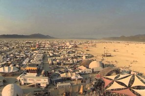 Drohnenflug über Burning Man