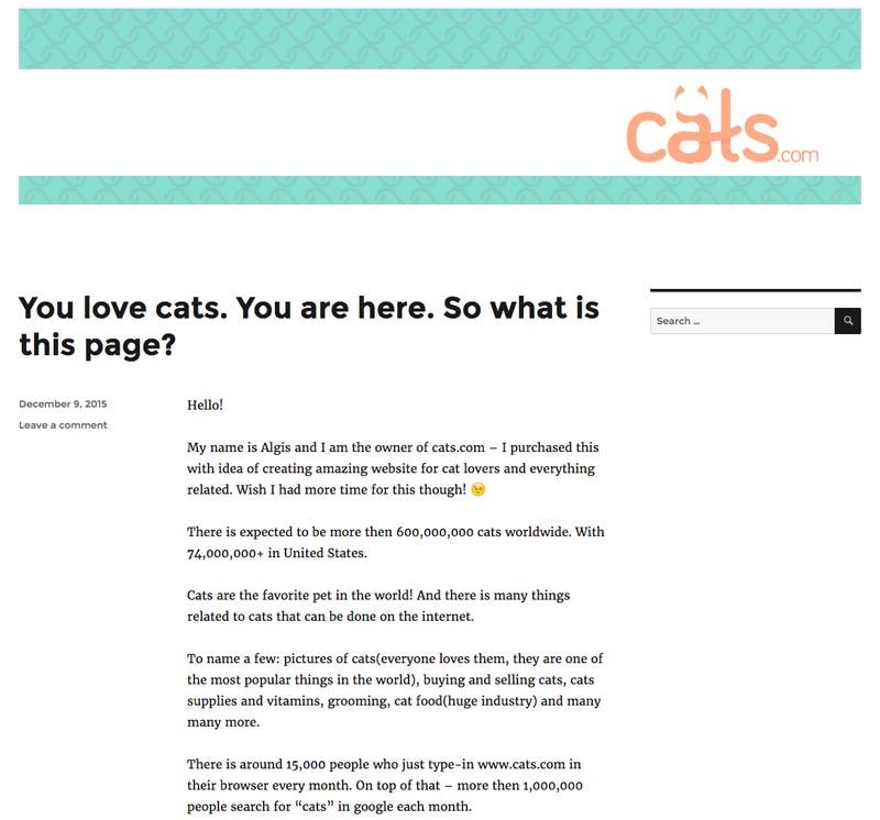 Cats.com kaufen