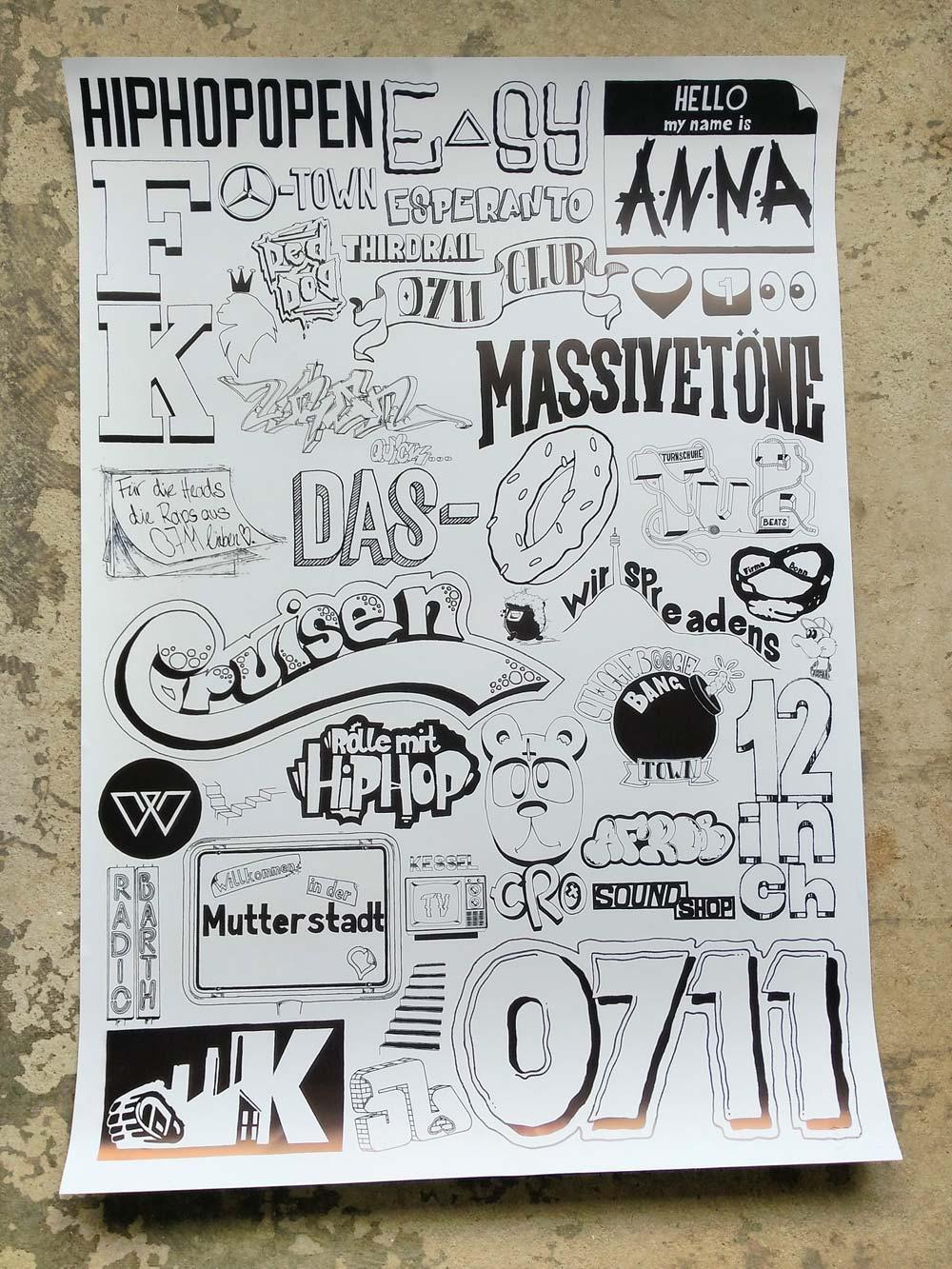 Stuttgart HipHop Plakat von 0711 | KESSEL.TV